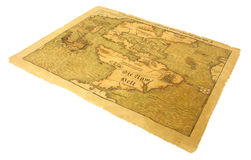 Antique Map. 500 year old map of the Americas Stock Photos