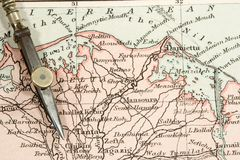Antique Map Stock Image
