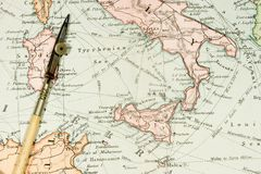 Antique Map Stock Images