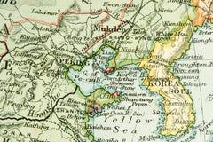 Antique Map Stock Photo