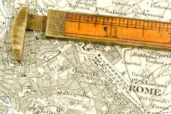 Antique Map Royalty Free Stock Photography