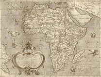 Antique map of Africa. Royalty Free Stock Photo