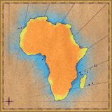 Antique map of Africa Royalty Free Stock Images