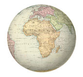 Antique map of Africa. Royalty Free Stock Images