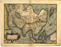 Antique Map of Asia Royalty Free Stock Images