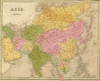 Antique map of Asia Stock Photo