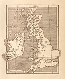 Antique Map of Britain. / old background Royalty Free Stock Image