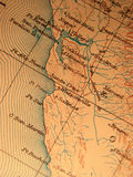 Antique map centered on Califo Stock Photo