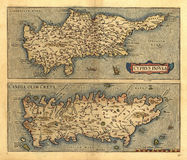 Antique Map of Cyrpus Royalty Free Stock Photography