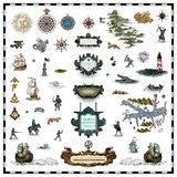 Antique map elements Royalty Free Stock Photos