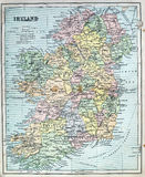 Antique Map of Ireland Royalty Free Stock Photography