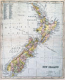 Antique Map of New Zealand Stock Images