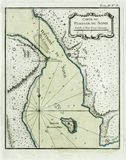 Antique map Oresund, the Sound Stock Photos