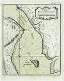 Antique map Oresund, the Sound. Antique map shoving the northern part of Oresund (Swedish: Öresund, danish: Øresund) - Carte du Passage du Sond. Engraved and Stock Photos