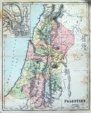Antique Map of Palestine Royalty Free Stock Images