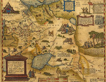 Antique Map of Russia and Tartary Stock Photo