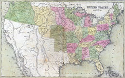 Antique map of United States Royalty Free Stock Image