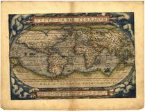 Antique Map of the World Stock Image