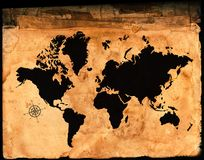 Antique Map of the World Royalty Free Stock Image