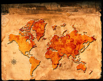 Antique Map of the World Royalty Free Stock Images