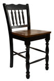 Antique Maple Bar Stool. In Painted Black Distressed Finish Royalty Free Stock Photos