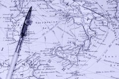 Antique Maps Royalty Free Stock Photography
