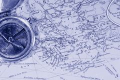 Antique Maps Stock Photo