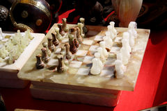 Antique Marble Chess Royalty Free Stock Photos