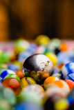 Antique Marble Collection. A collection of colorful glass antique marbles Stock Images