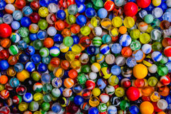 Antique Marble Collection. A colorful collection of antique marbles Stock Photography