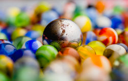 Antique Marble Collection. A colorful collection of antique marbles Royalty Free Stock Photos