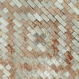 Antique marble mosaic as background Royalty Free Stock Photography