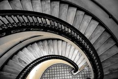 Antique Marble Staircase Royalty Free Stock Photos