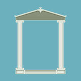 Antique marble temple front with ionic columns Stock Photo