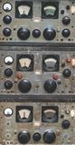 Antique Marine Control Panel Instruments stock images