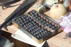 ANTIQUE MARKET. Abacus. On Flea market in Munich, Germany Royalty Free Stock Image