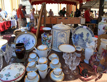 Antique market The Cours Saleya, Nice, France Royalty Free Stock Photo