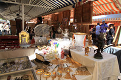 Antique market in Nice, France Royalty Free Stock Image