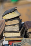 Antique market. Old Books. Stock Photo