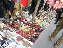 Antique market in Panjiayuan. People selling antique in   Panjiayuan market Royalty Free Stock Photos