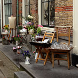 Antique market in the streets Royalty Free Stock Photography