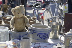 ANTIQUE MARKET. The teddy bear Royalty Free Stock Photos