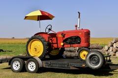 Antique Massey Harris 81 tractor stock images