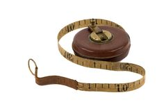 Antique Measuring Tape Royalty Free Stock Photography