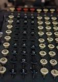 Antique mechanical calculator Stock Image