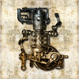 Antique mechanical figure Royalty Free Stock Photography