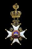 Antique medal. Austria empire medal with devis per aspera ad astra stock images