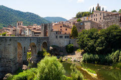 Antique medieval town with old  bridge Stock Photography