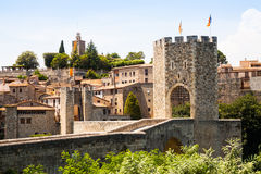 Antique medieval town with old gate Stock Photography