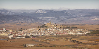 Antique medieval village of Artajona. Navarra, Spain Stock Photos